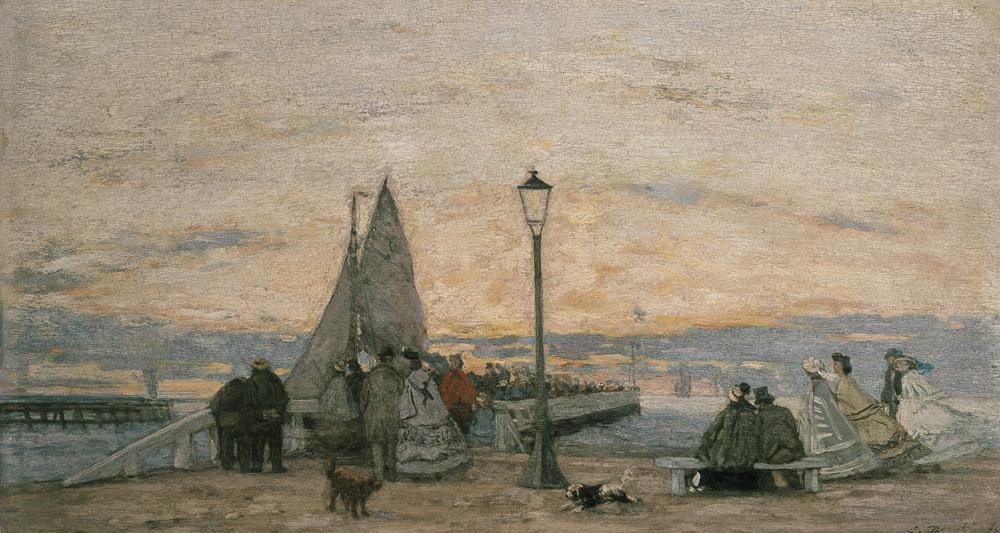 Eugène Boudin La jetée de Trouville au soleil couchant